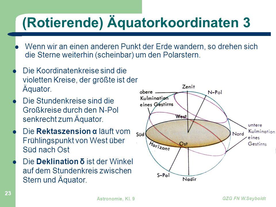 (Rotierende) Äquatorkoordinaten 3