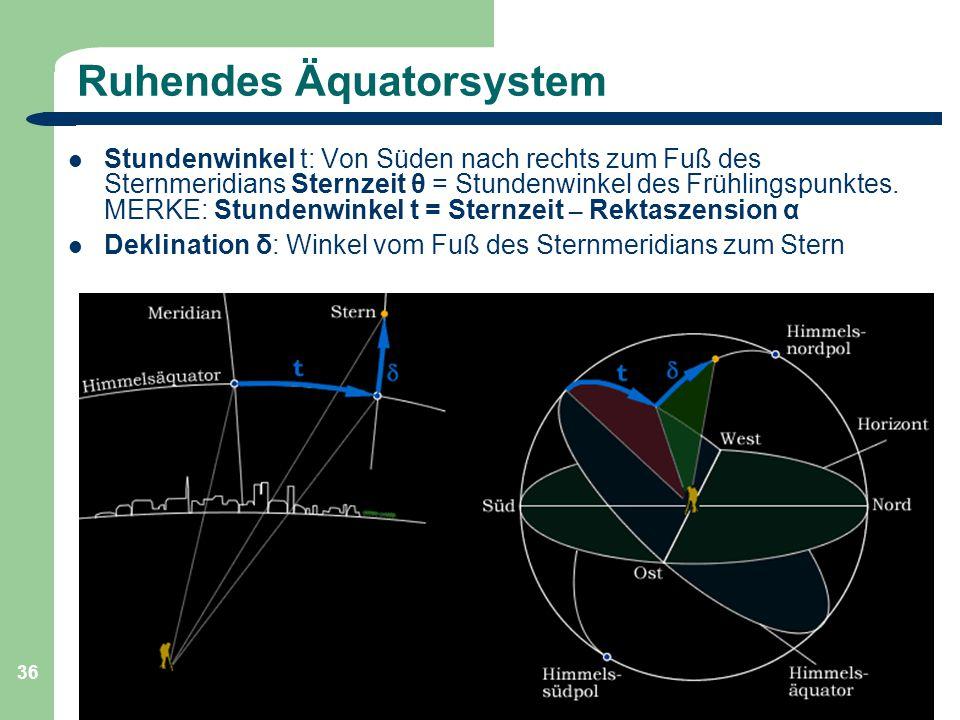 Ruhendes Äquatorsystem
