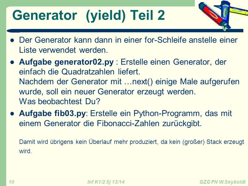 Generator (yield) Teil 2