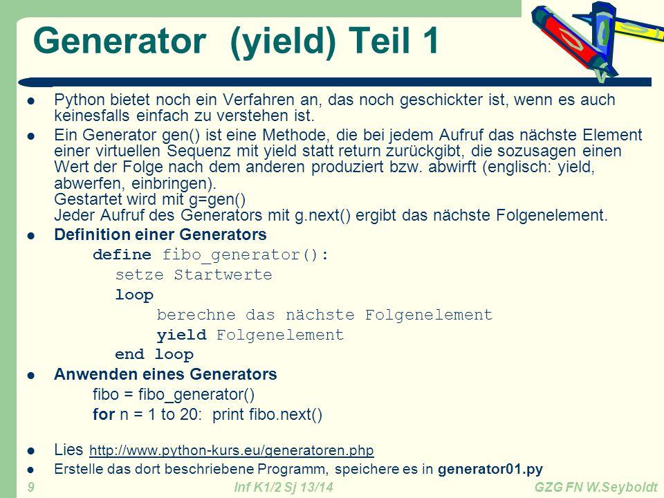 Generator (yield) Teil 1