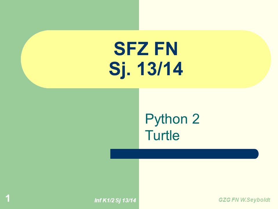 SFZ FN Sj. 13/14 Python 2 Turtle Inf K1/2 Sj 13/14 GZG FN W.Seyboldt