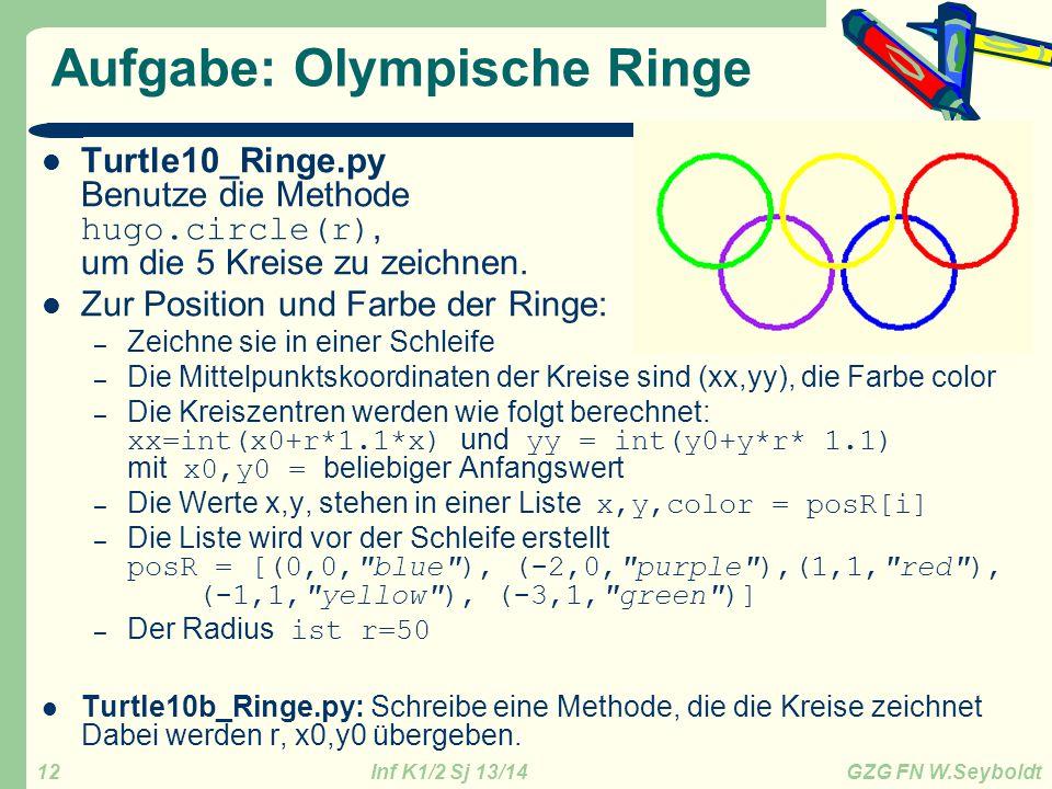 Aufgabe: Olympische Ringe