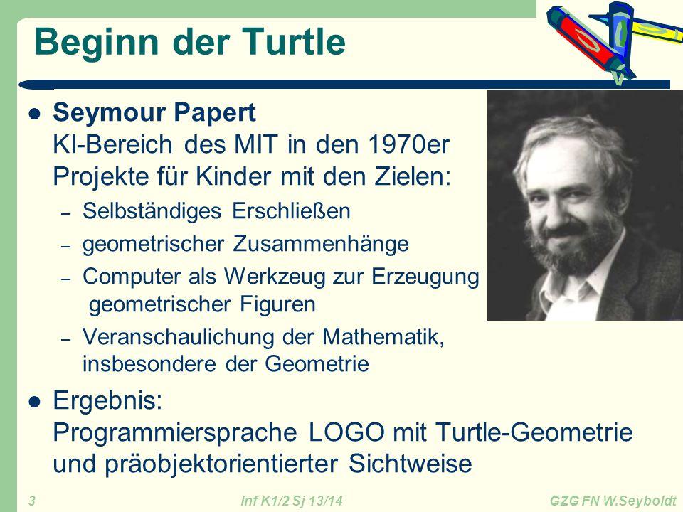 Beginn der Turtle Seymour Papert KI-Bereich des MIT in den 1970er Projekte für Kinder mit den Zielen: