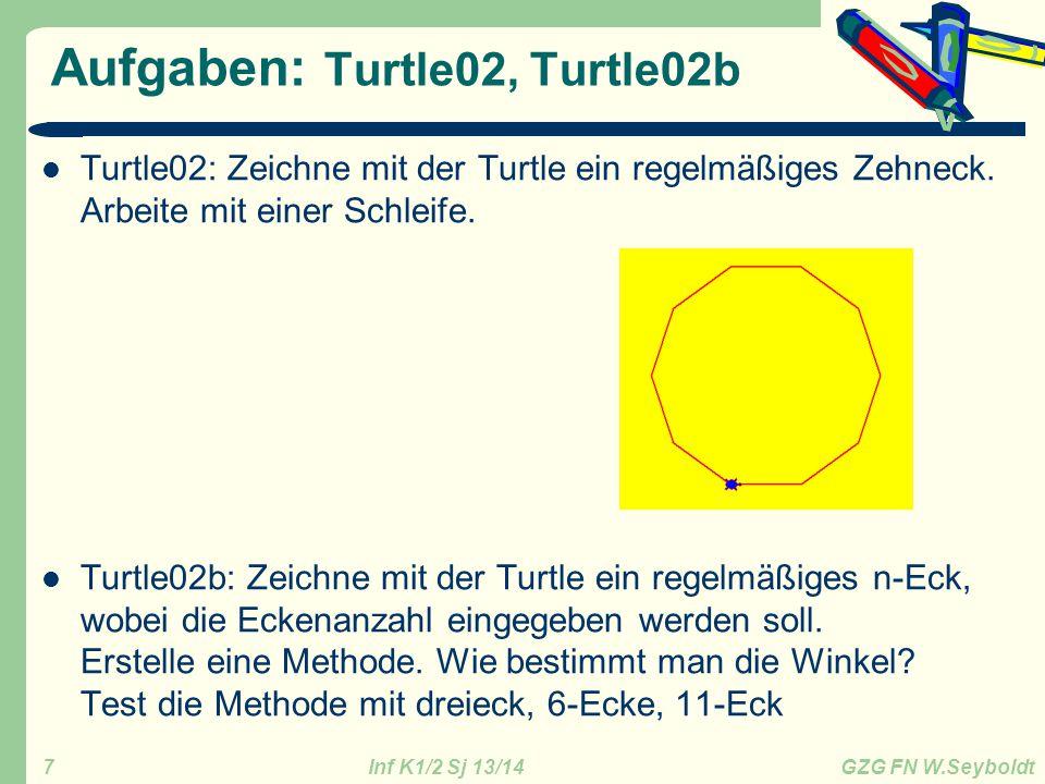 Aufgaben: Turtle02, Turtle02b