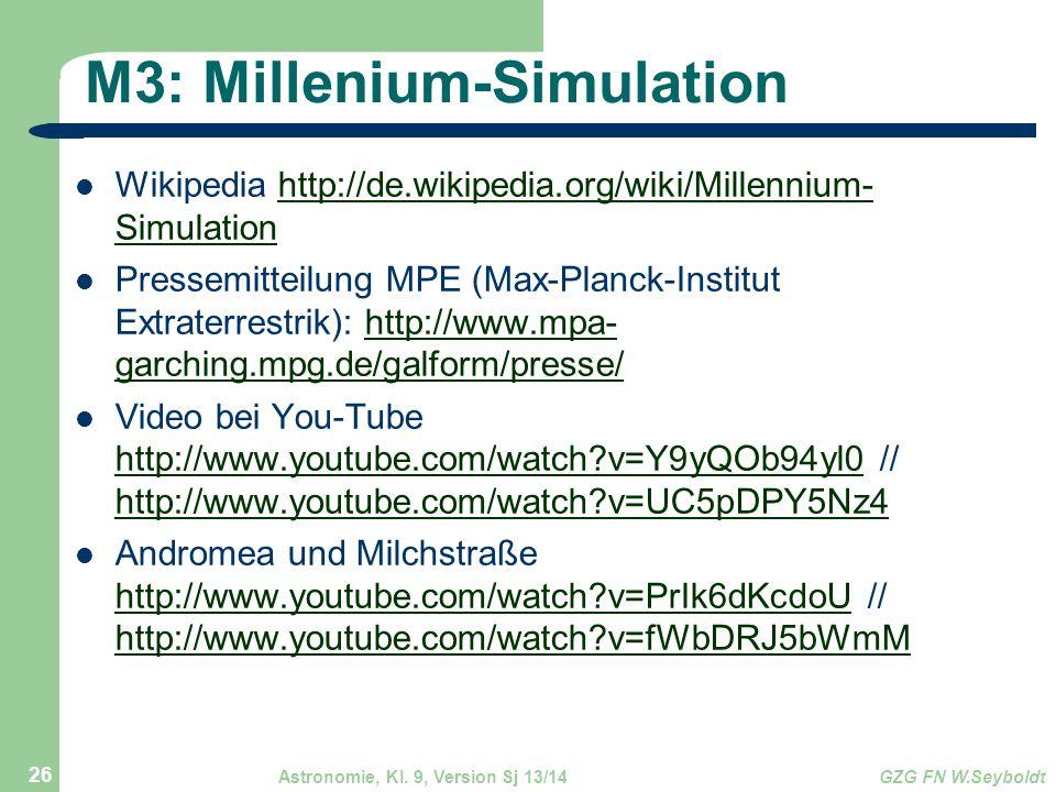 M3: Millenium-Simulation