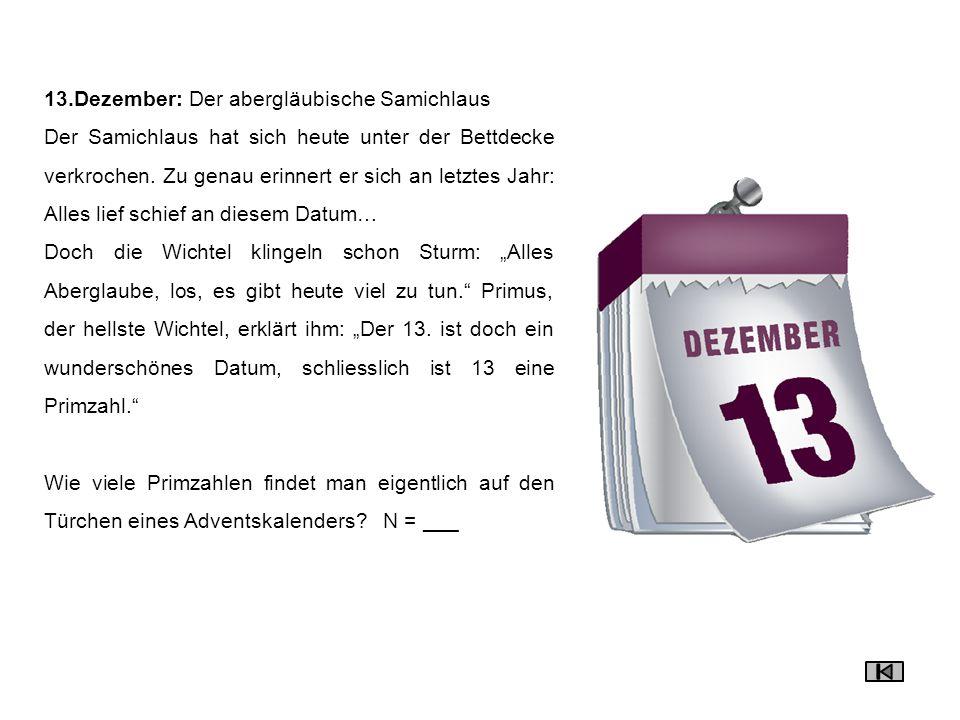 13.Dezember: Der abergläubische Samichlaus