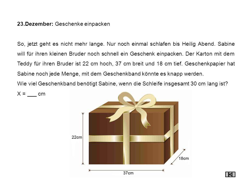 23.Dezember: Geschenke einpacken