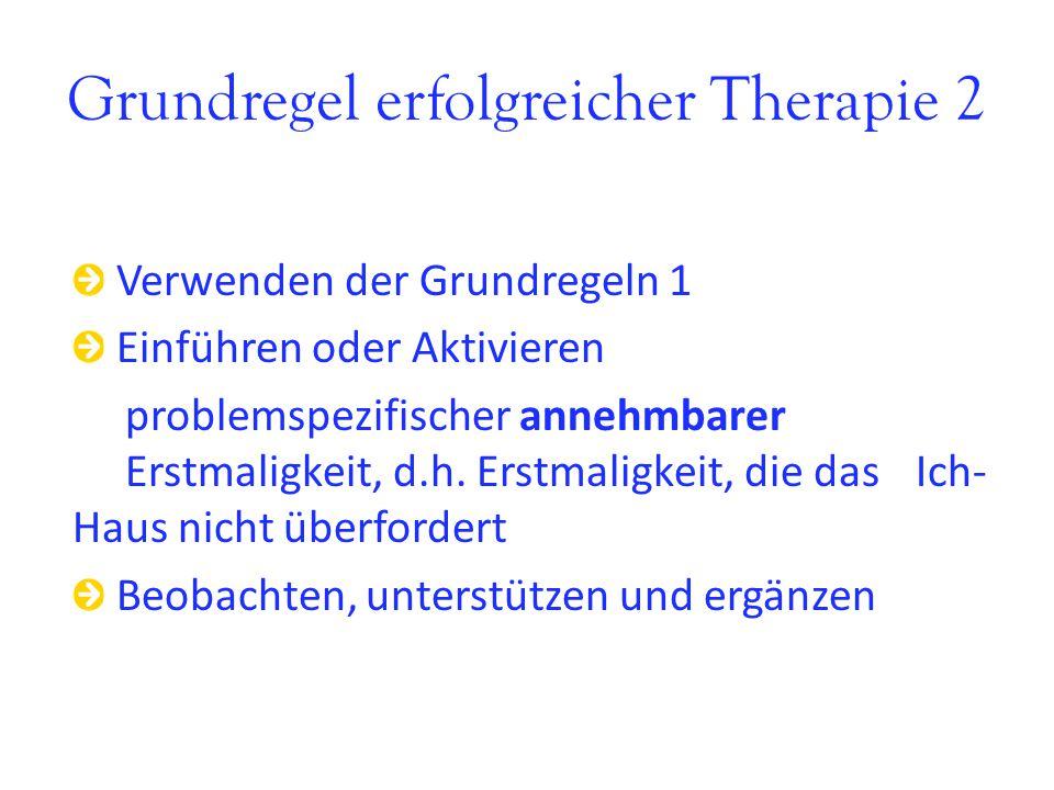 Grundregel erfolgreicher Therapie 2