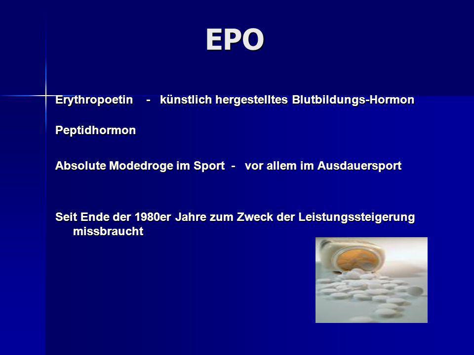 EPO Erythropoetin - künstlich hergestelltes Blutbildungs-Hormon