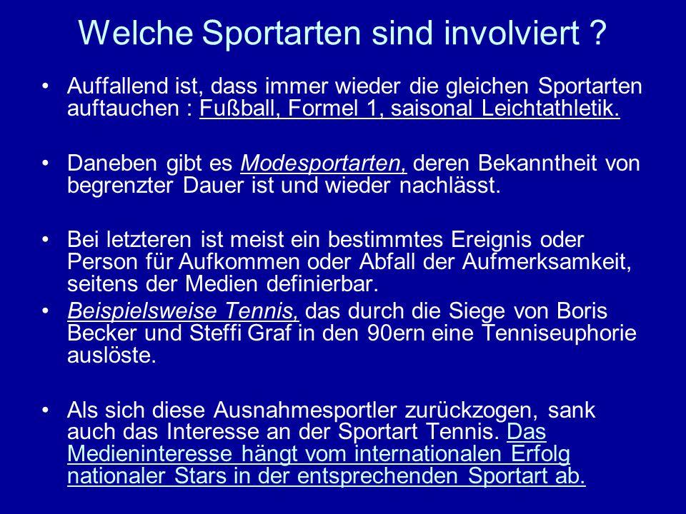 Welche Sportarten sind involviert