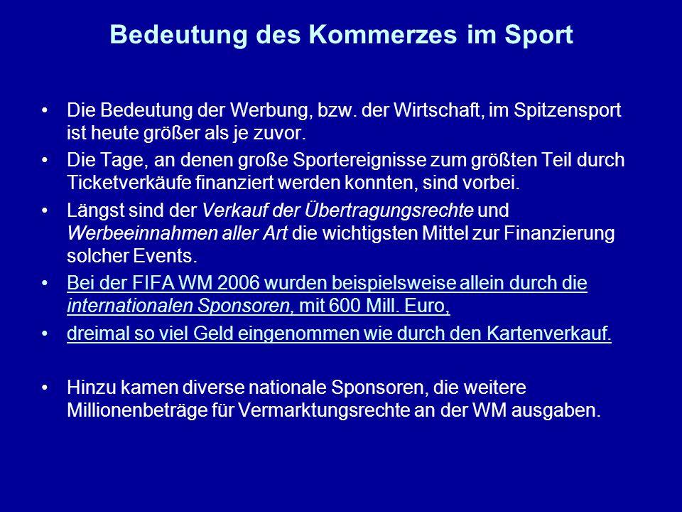 Bedeutung des Kommerzes im Sport