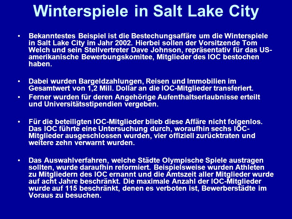 Winterspiele in Salt Lake City