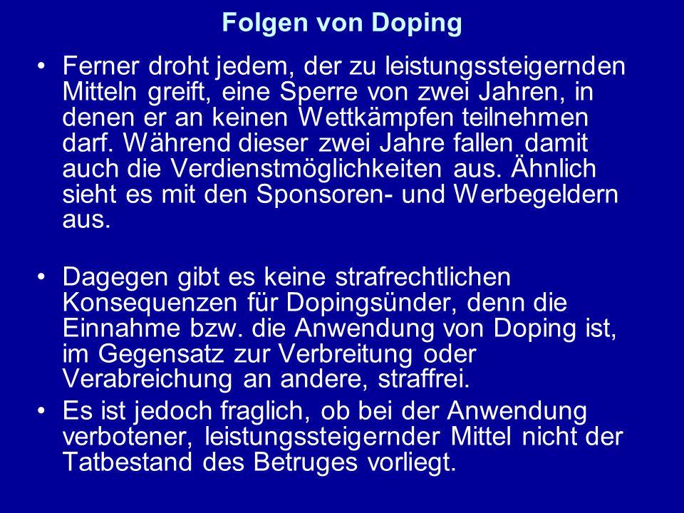 Folgen von Doping