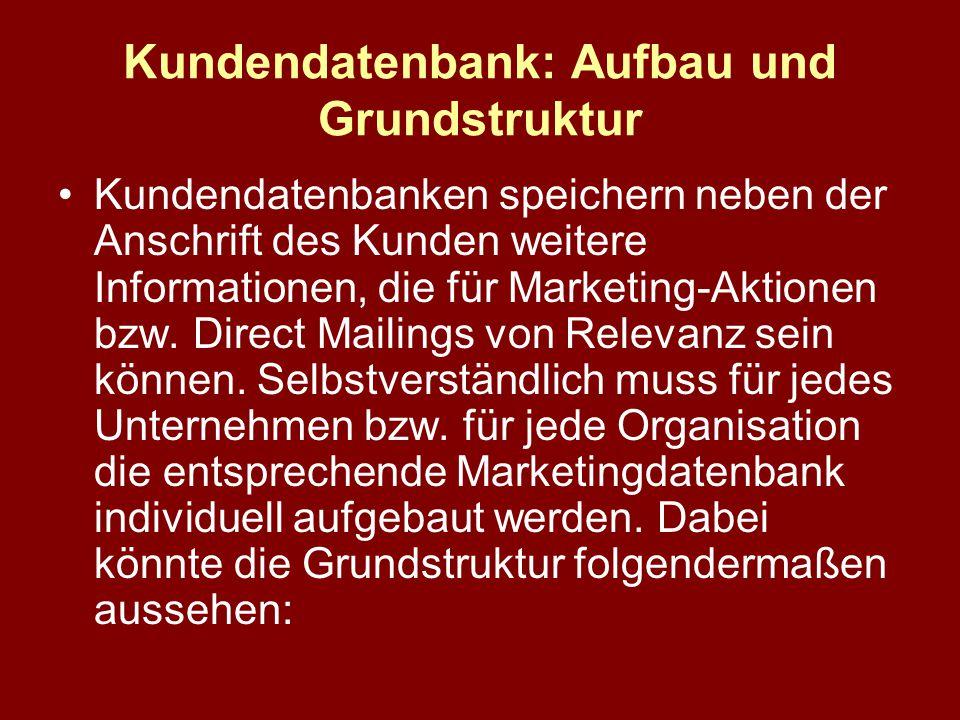 Kundendatenbank: Aufbau und Grundstruktur