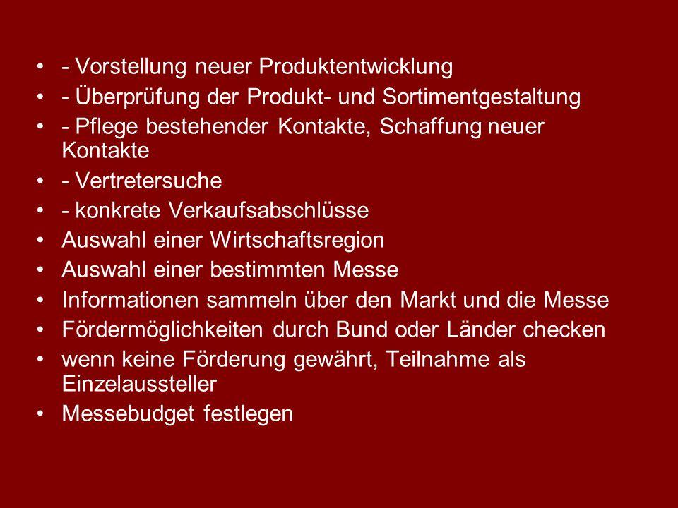 - Vorstellung neuer Produktentwicklung