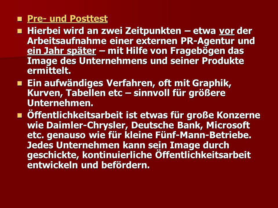 Pre- und Posttest