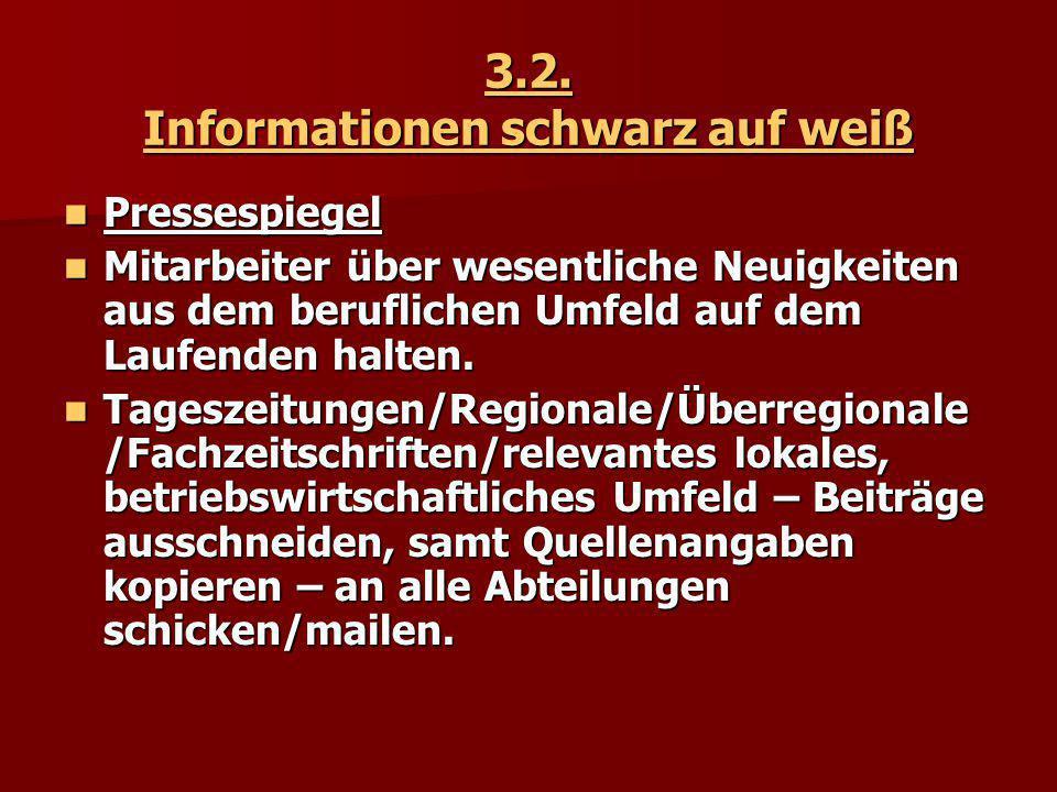 3.2. Informationen schwarz auf weiß