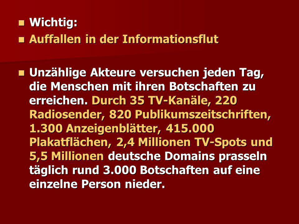 Wichtig: Auffallen in der Informationsflut.