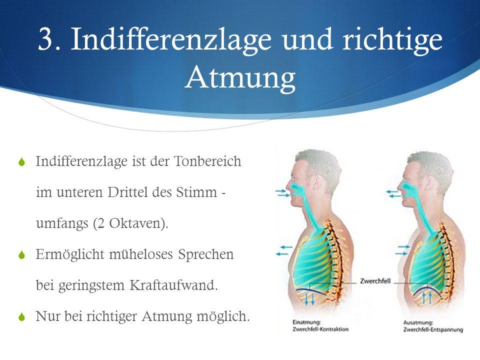 3. Indifferenzlage und richtige Atmung