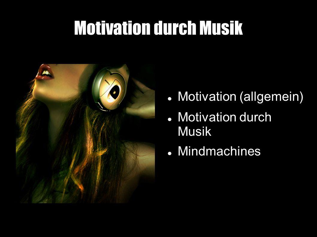 Motivation durch Musik