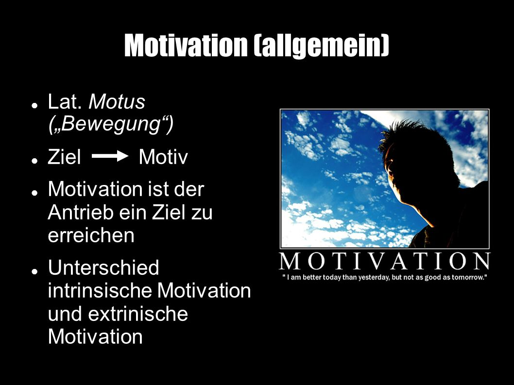 Motivation (allgemein)‏