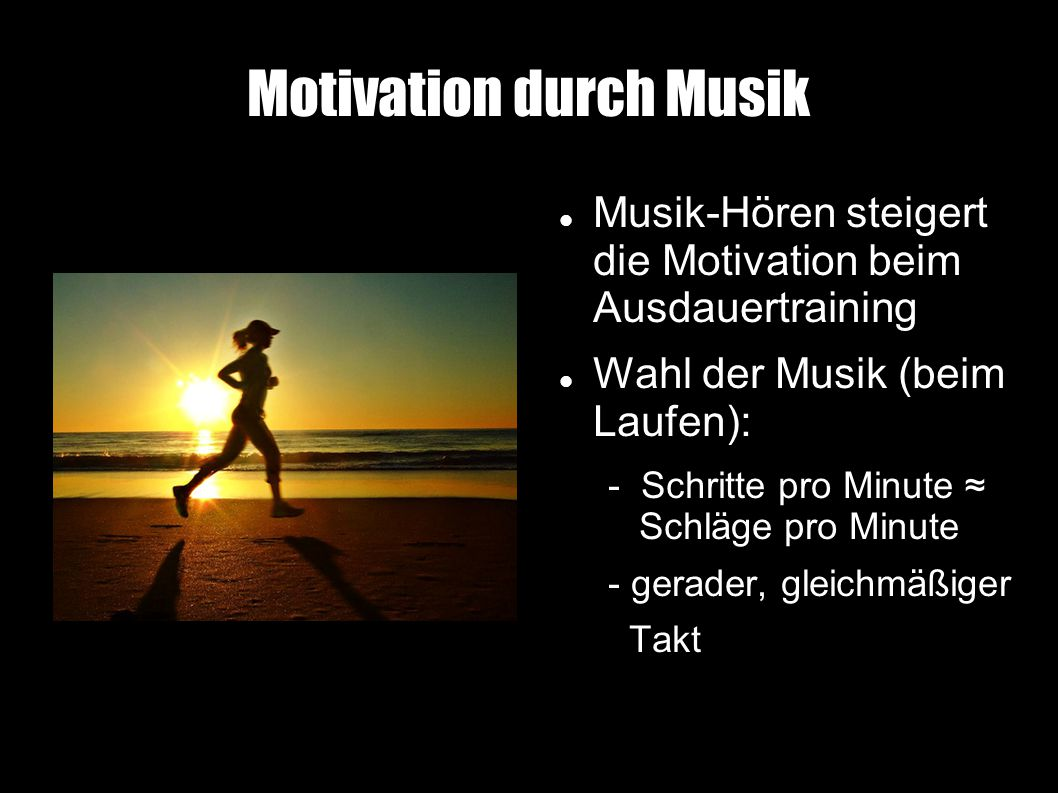 Motivation durch Musik