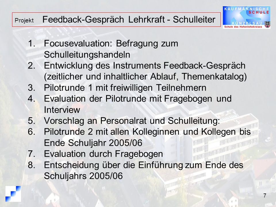 Focusevaluation: Befragung zum Schulleitungshandeln