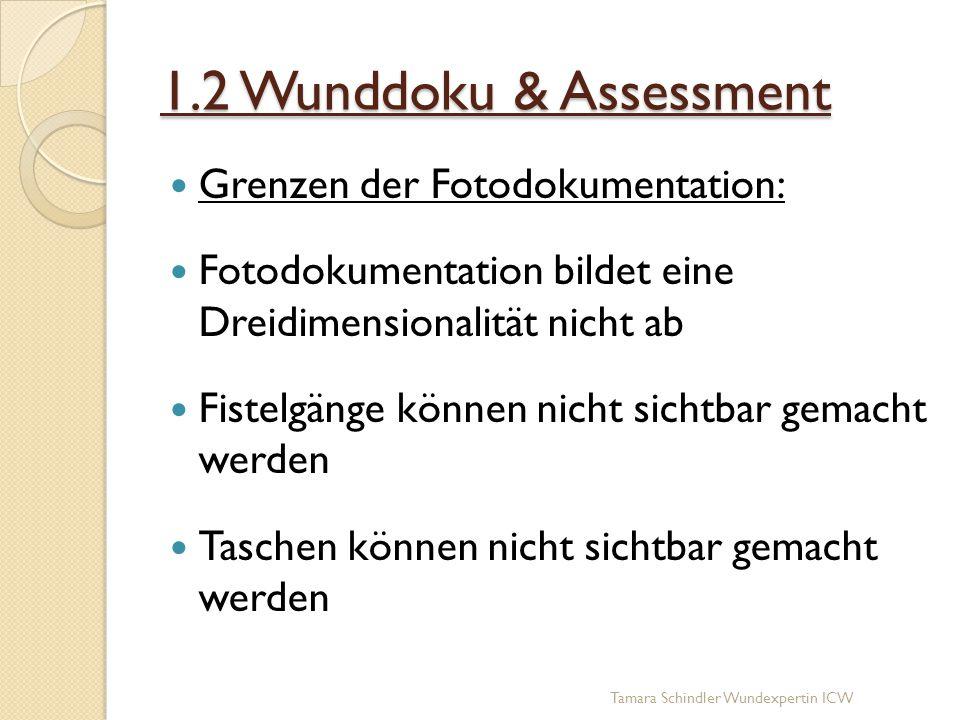 1.2 Wunddoku & Assessment Grenzen der Fotodokumentation: