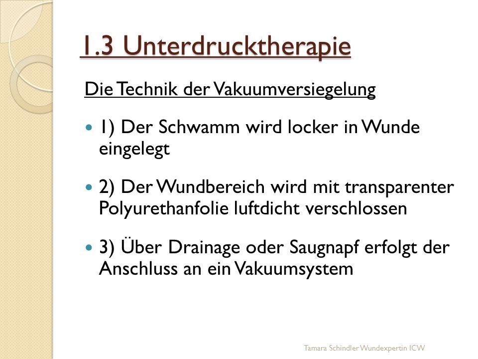 1.3 Unterdrucktherapie Die Technik der Vakuumversiegelung