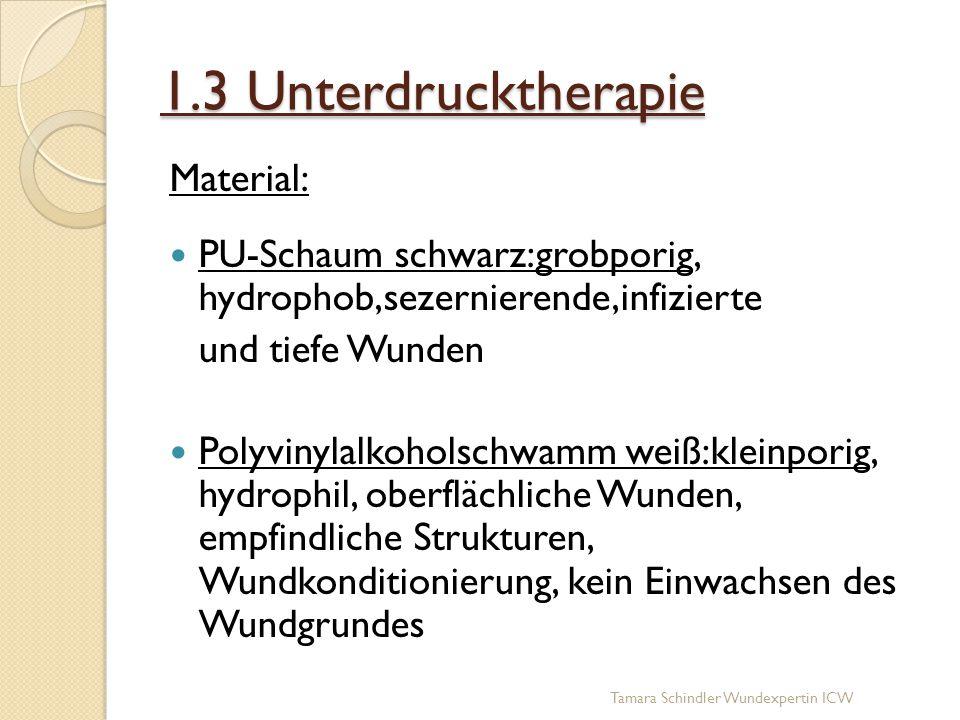1.3 Unterdrucktherapie Material: