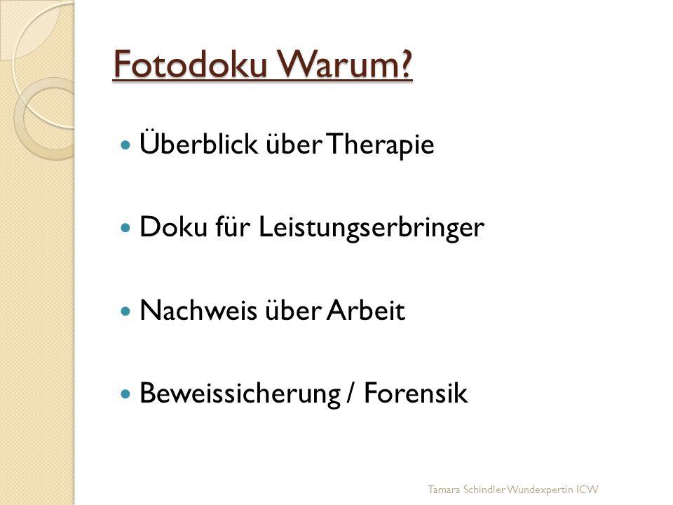 Fotodoku Warum Überblick über Therapie Doku für Leistungserbringer