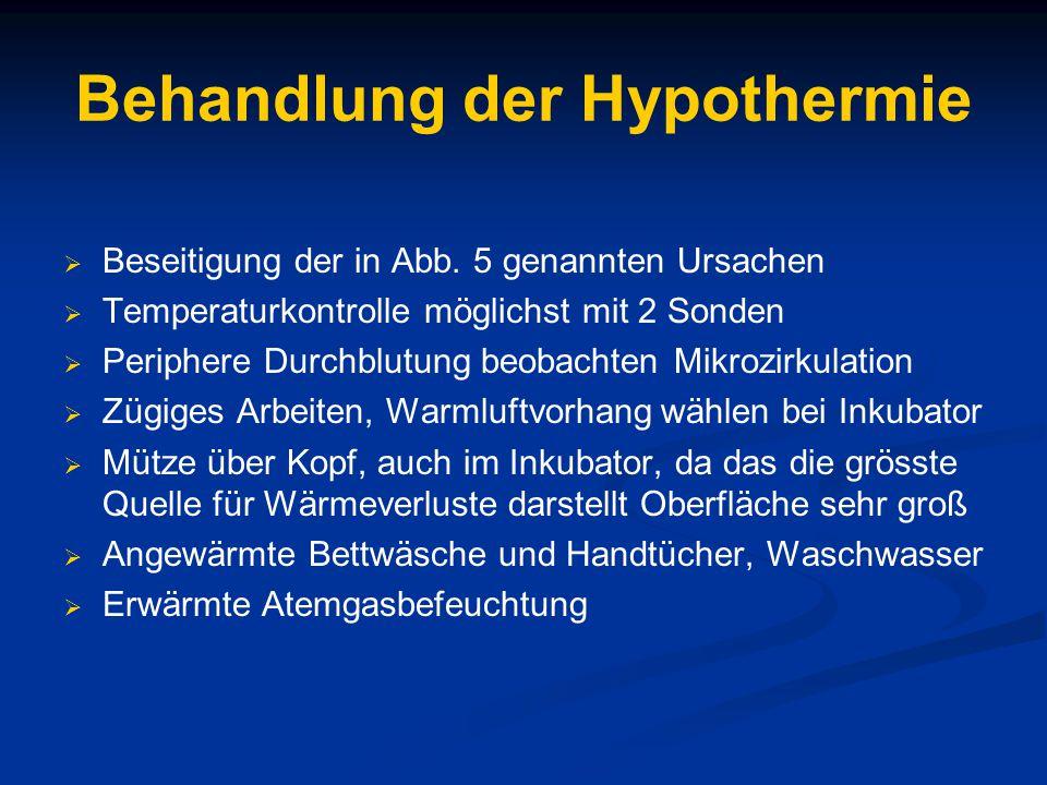 Behandlung der Hypothermie