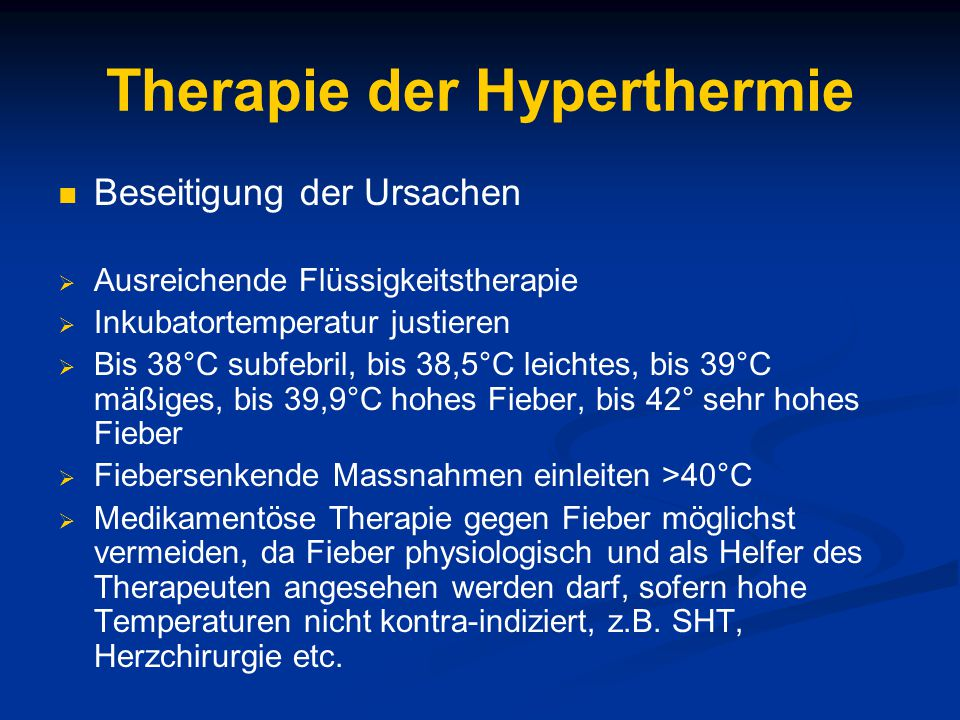 Therapie der Hyperthermie