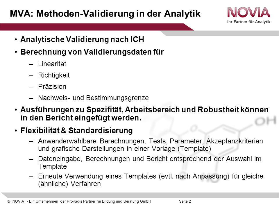 MVA: Methoden-Validierung in der Analytik