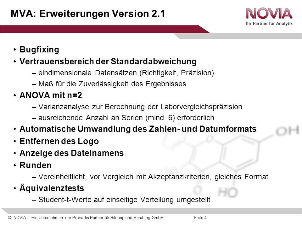 MVA: Erweiterungen Version 2.1