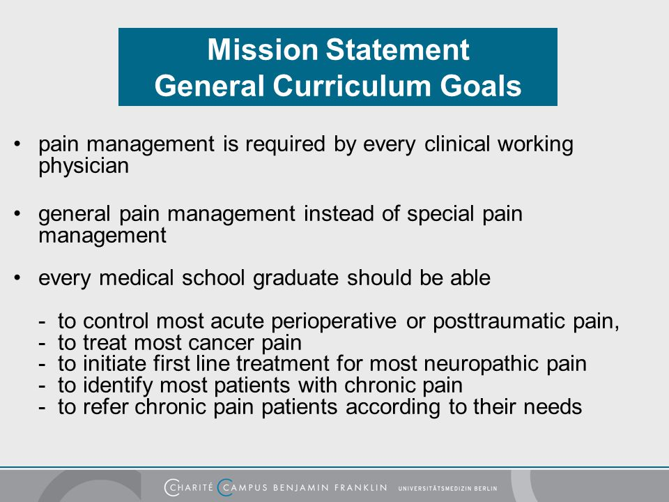 Mission Statement General Curriculum Goals