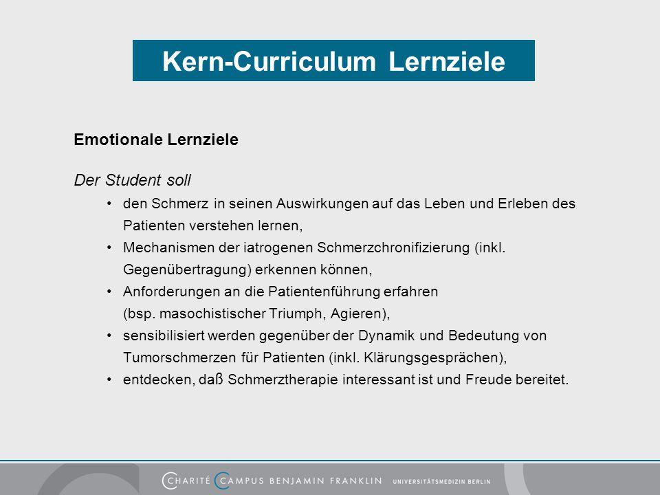 Kern-Curriculum Lernziele
