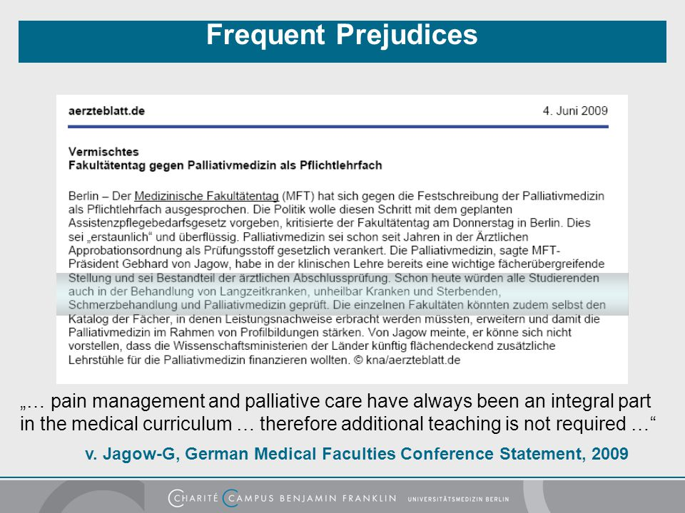 Frequent Prejudices