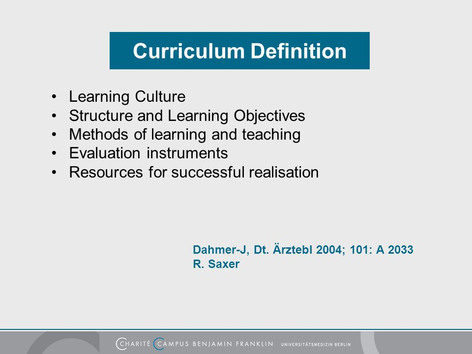 Curriculum Definition