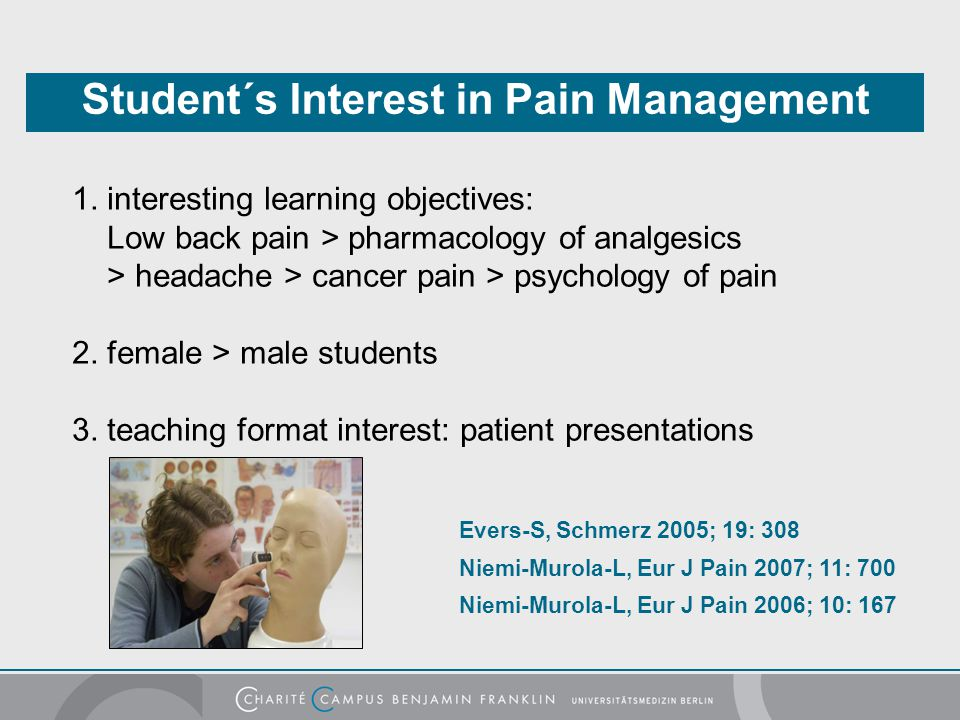 Student´s Interest in Pain Management
