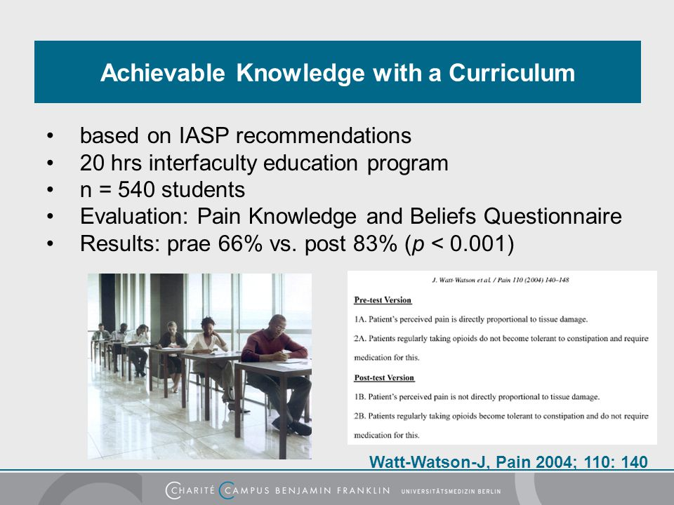 Achievable Knowledge with a Curriculum