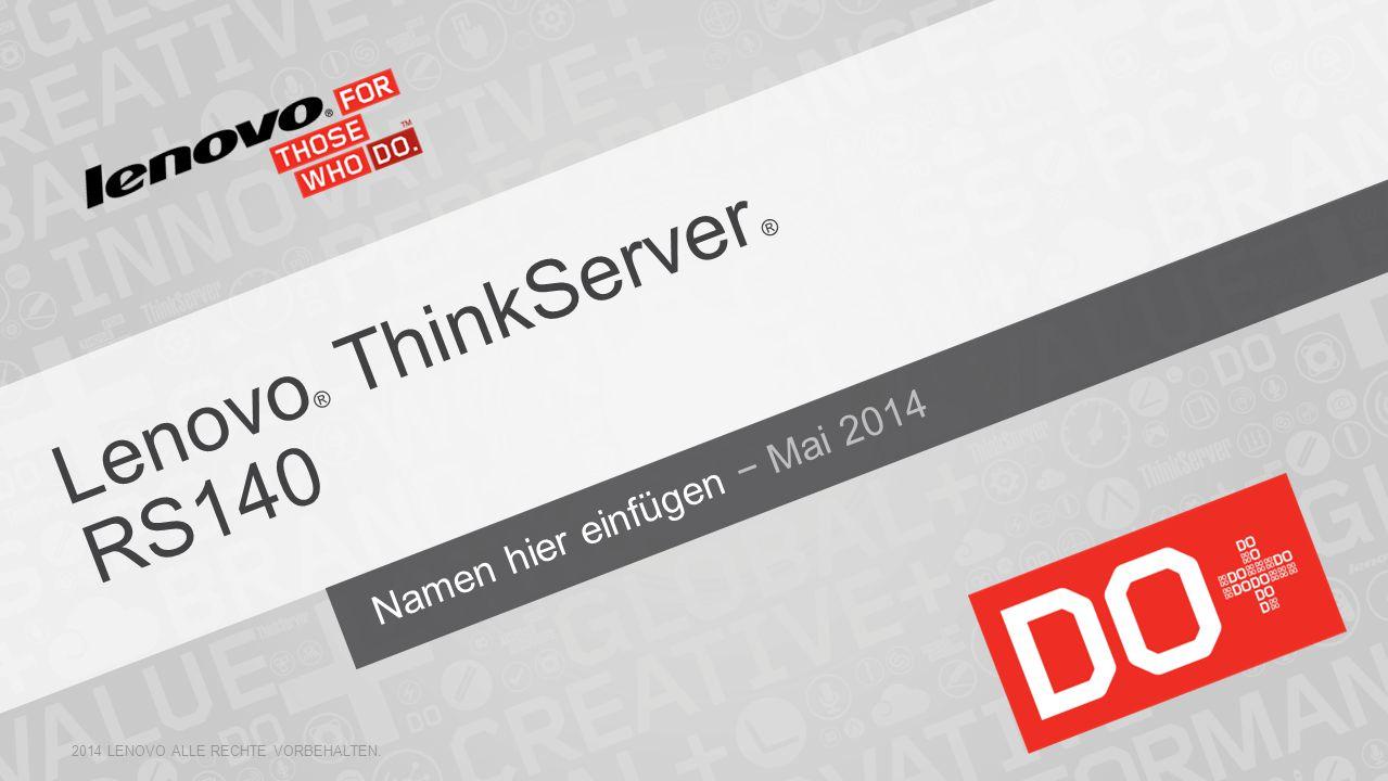 Lenovo® ThinkServer ® RS140
