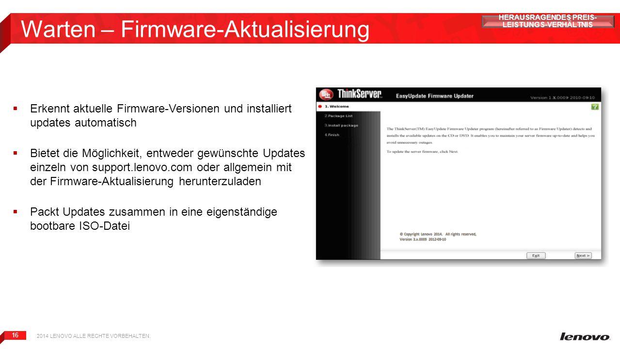 Warten – Firmware-Aktualisierung