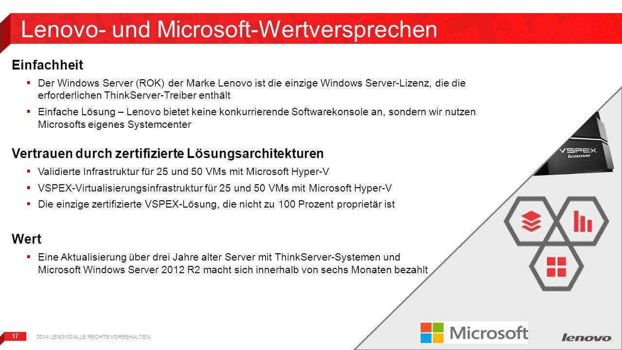 Lenovo- und Microsoft-Wertversprechen