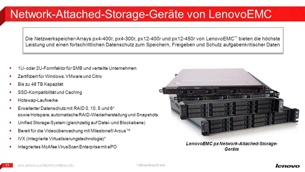 Network-Attached-Storage-Geräte von LenovoEMC