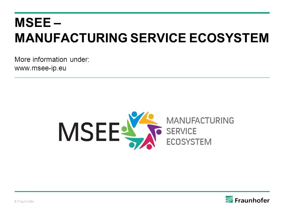 MSEE – Manufacturing Service Ecosystem