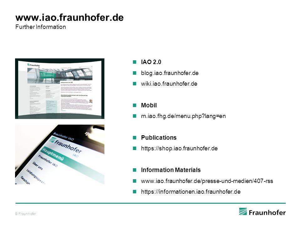 www.iao.fraunhofer.de Further Information