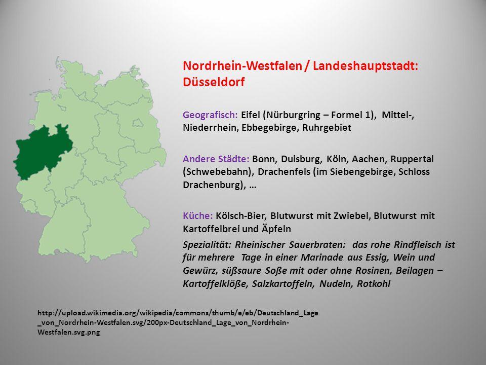 Nordrhein-Westfalen / Landeshauptstadt: Düsseldorf