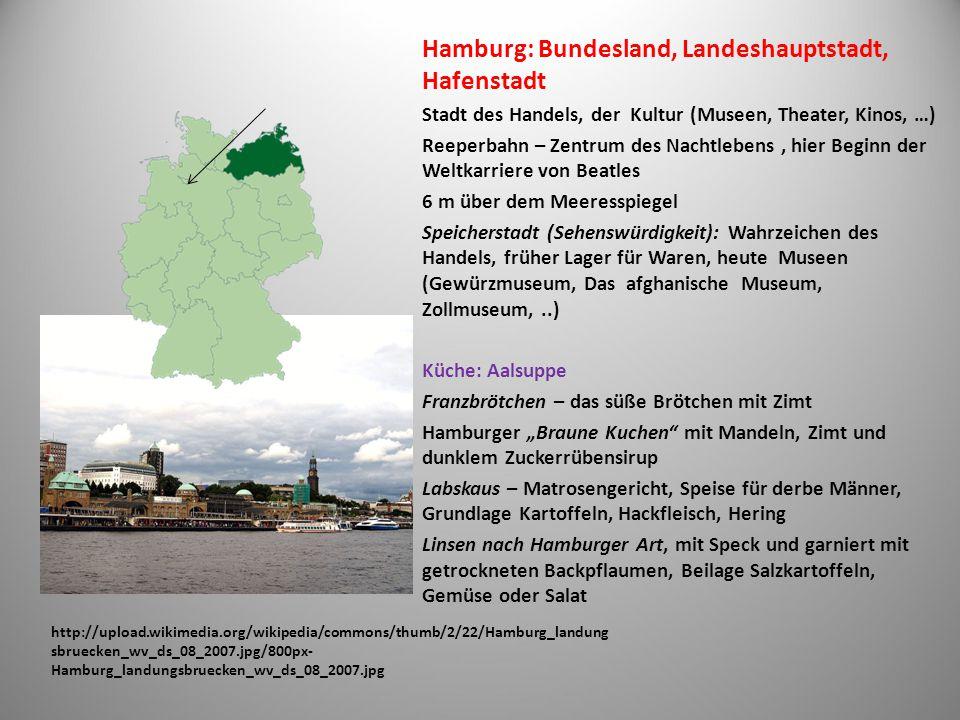 Hamburg: Bundesland, Landeshauptstadt, Hafenstadt