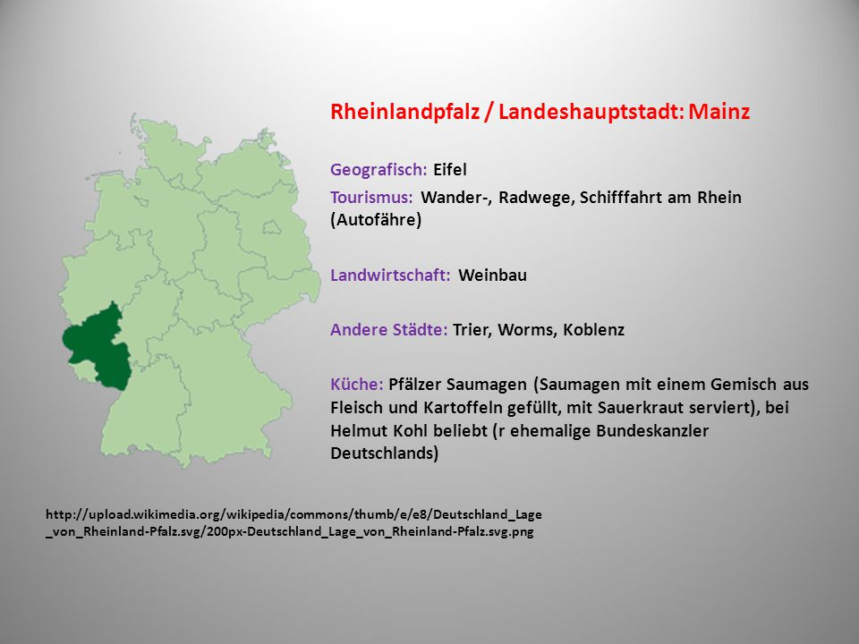 Rheinlandpfalz / Landeshauptstadt: Mainz